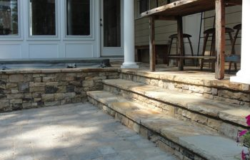 porch flagstone steps