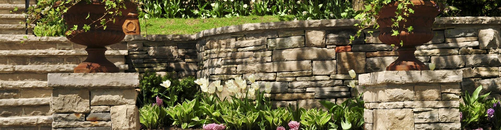retaining walls in a garden